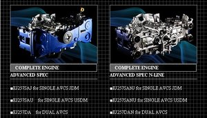 Subaru EJ20/25 motordelar TOMEI
