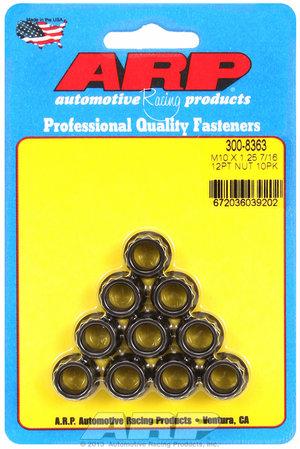 ARP M10 x 1.25  12pt nut kit 3008363