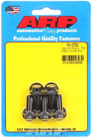 ARP 5/16-24 x .750 12pt black oxide bolts 7410750