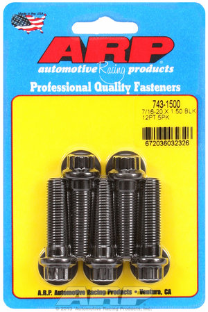 ARP 7/16-20 x 1.500 12pt black oxide bolts 7431500