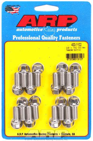 ARP 3/8 x .750 SS hex header bolt kit 4001102