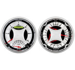 "Autometer Gauge Kit, 2 pc., Quad & Tach/Speedo, 5"", MCX 1103"