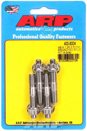 ARP M8 X 1.25 X 51mm broached stud kit - 4pcs 4008004