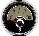 "Autometer Gauge, Oil Press, 2 1/16"", 100psi, Elec, Cruiser 1128"