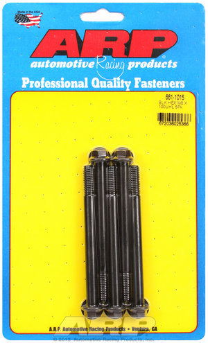ARP M8 x 1.25 x 100 hex black oxide bolts 6611015