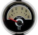 """Autometer Gauge, Voltmeter, 2 1/16"""", 18V, Elec, Cruiser 1193"""