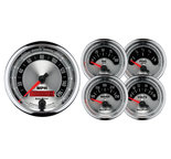 "Autometer Gauge Kit, 2 pc., Quad & Tach/Speedo, 5"", Old Tyme White II 1203"