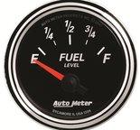 "Autometer Gauge, Fuel Level, 2 1/16"", 240?E to 33?F, Elec, Designer Black II 1206"