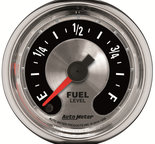 "Autometer Gauge, Fuel Level, 2 1/16"", Programmable, American Muscle 1209"