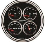 """Autometer Gauge, Quad, 5"""", 240?E-33?F, Elec, Designer Black II 1211"""