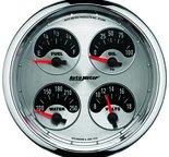 "Autometer Gauge, Quad, 5"", 240?E-33?F, Elec, American Muscle 1212"