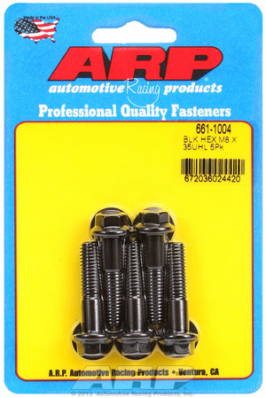 ARP M8 x 1.25 x 35 hex black oxide bolts 6611004