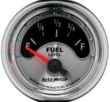 "Autometer Gauge, Fuel Level, 2 1/16"", 0?E to 90?F, Elec, American Muscle 1214"
