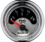 "Autometer Gauge, Fuel Level, 2 1/16"", 240?E to 33?F, Elec, American Muscle 1217"