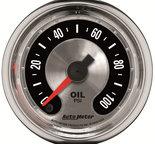 "Autometer Gauge, Oil Press, 2 1/16"", 100psi, Mech, American Muscle 1219"