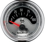 "Autometer Gauge, Oil Press, 2 1/16"", 100psi, Elec, American Muscle 1226"