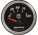 "Autometer Gauge, Oil Press, 2 1/16"", 100psi, Elec, Designer Black II 1228"