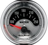 "Autometer Gauge, Water Temp, 2 1/16"", 250şF, Elec, American Muscle 1236"