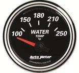 "Autometer Gauge, Water Temp, 2 1/16"", 250şF, Elec, Designer Black II 1238"