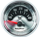 "Autometer Gauge, Oil Temp, 2 1/16"", 300şF, Elec, American Muscle 1248"
