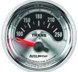 "Autometer Gauge, Trans Temp, 2 1/16"", 250şF, Elec, American Muscle 1249"