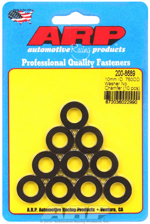 ARP M10 ID 3/4 OD chamfer black washers 2008689