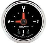 "Autometer Gauge, Clock, 2 1/16"", 12Hr, Analog, Designer Black II 1285"