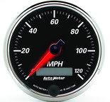 "Autometer Gauge, Speedometer, 3 3/8"", 120mph, Elec. Prog. w/ LCD Odo, Designer Blk II 1286"
