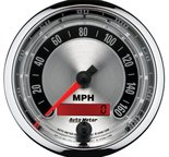 "Autometer Gauge, Speedometer, 3 3/8"", 160mph, Elec. Programmable, American Muscle 1288"