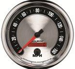 "Autometer Gauge, Speedometer, 5"", 160mph, Elec. Programmable, American Muscle 1289"