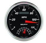 "Autometer Gauge, Tach/Speedo, 5"", 120mph & 8k RPM, Elec. Program, Designer Black II 1291"
