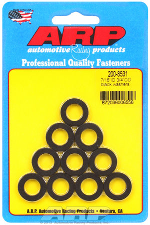 ARP 7/16 ID 3/4 OD black washers 2008531