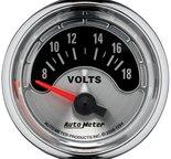 """Autometer Gauge, Voltmeter, 2 1/16"""", 18V, Elec, American Muscle 1294"""