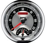 "Autometer Gauge, Tach/Speedo, 5"", 160mph & 8k RPM, Elec. Program., Amer. Muscle 1295"