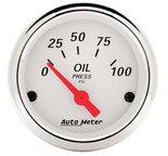 "Autometer Gauge, Oil Press, 2 1/16"", 100psi, Elec, Arctic White 1327"