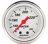 "Autometer Gauge, Water Temp, 2 1/16"", 120-240şF, Mech, Arctic White 1332"