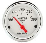 "Autometer Gauge, Water Temp, 2 1/16"", 250şF, Elec, Arctic White 1337"