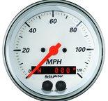 "Autometer Gauge, Speedometer, 3 3/8"", 120mph, GPS, Arctic White 1349"