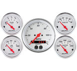"Autometer Gauge Kit, 5 pc., 3 3/8"" & 2 1/16"", GPS Speedometer, Arctic White 1350"