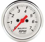 "Autometer Gauge, Tachometer, 2 1/16"", 7k RPM, In-Dash, Arctic White 1397"