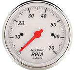 "Autometer Gauge, Tachometer, 3 1/8"", 7k RPM, In-Dash, Arctic White 1398"