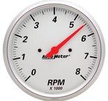 "Autometer Gauge, Tachometer, 5"", 8k RPM, In-Dash, Arctic White 1399"