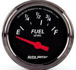 "Autometer Gauge, Fuel Level, 2 1/16"", 73?E to 10?F, Elec, Black Bzl, Designer Black 1416"