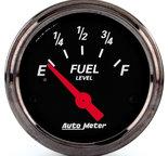 "Autometer Gauge, Fuel Level, 2 1/16"", 240?E to 33?F, Elec, Black Bzl, Designer Black 1417"