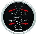 "Autometer Gauge, Quad, 5"", 0?E-90?F, Elec, Designer Black 1419"