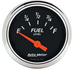 "Autometer Gauge, Fuel Level, 2 1/16"", 0?E to 90?F, Elec, Designer Black 1422"
