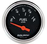 "Autometer Gauge, Fuel Level, 2 1/16"", 73?E to 10?F, Elec, Designer Black 1423"