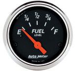 "Autometer Gauge, Fuel Level, 2 1/16"", 240?E to 33?F, Elec, Designer Black 1424"