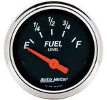 "Autometer Gauge, Fuel Level, 2 1/16"", 0?E to 30?F, Elec, Designer Black 1425"