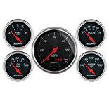 "Autometer Gauge Kit, 5 pc., 3 3/8"" & 2 1/16"", GPS Speedometer, Designer Black 1450"
